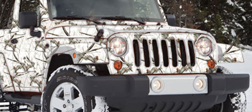 White Camo Jeep : Got banner stands retractable banners roll up